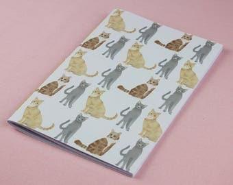 Cute Sketchbook / Cute Cat Notebook / A5 notebook / Animal notebook / Handmade notebook / Pocket notebook / A6 notebook / Birthday gift.