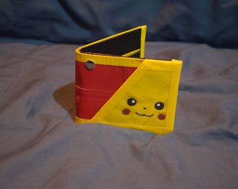 Pikachu Themed Wallet: Red and Yellow