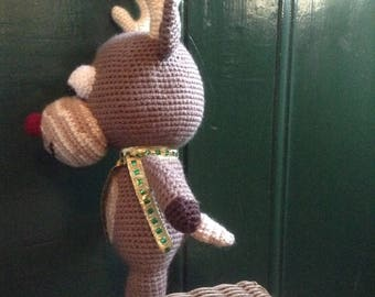Crochet Rudolph Christmas toy