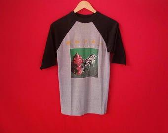 vintage Rush band tour 1983 medium mens t-shirt