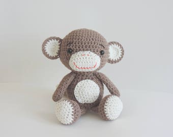 Handmade crochet stuffed monkey