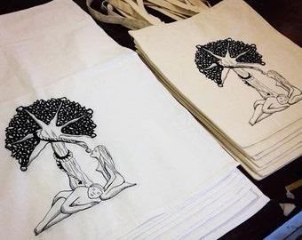 Adam&Eve Tea towel_Screen printed