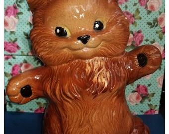 80's Vintage Ceramic Cat Lawn Decoration Garden Kitty