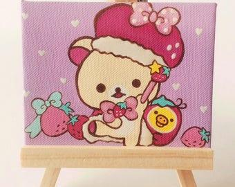Korilakkuma Strawberry Royalty Mini Painting