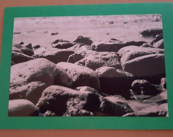 Blank Handmade Photo Card on Green With Matching Envelope