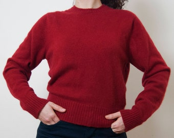Vintage Red Cashmere Jumper
