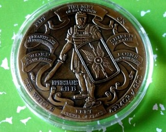 Armor of God High Relief Challenge Art Coin