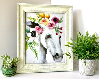 White Horse Floral