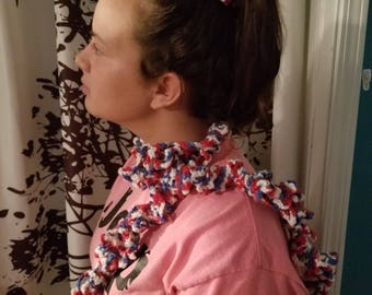 Crochet Scarf And Pony Tail Holder Ready For Ship