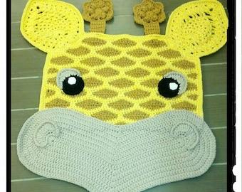 Crochet Giraffe nursery rug