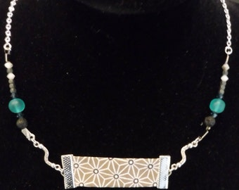 lava bias fabric pendant necklace