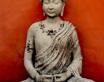 Root Chakra Buddha greeting card