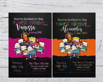 Rugrats Birthday Invitation