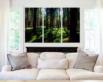 Vivid Green Forest  - Canvas Art