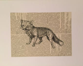Fox Book Page Art