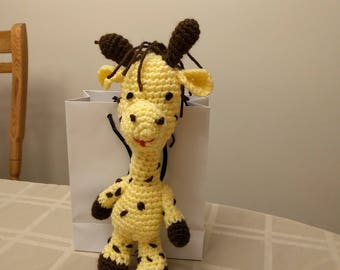 Acrylic Yarn Crocheted Giraffe