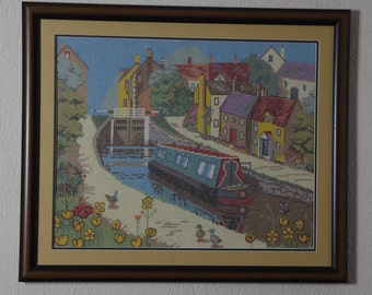 Framed Needle Work Wall Decor Picture 63x54 cm  CANAL