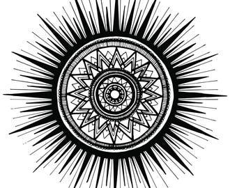 Sun Mandala Print