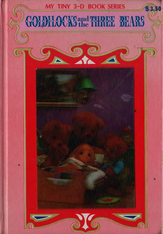Goldilocks and the Three Bears My Tiny 3-D Book Series - Rose-Art Studios - Vintage Kids Book