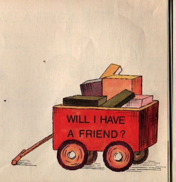 Will I Have a Friend – First Printing - Miriam Cohen - Lillian Hoban - 1967 - Vintage Kids Book