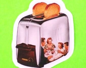 Toaster Heaven Perfect Family Breakfast Classic Vintage Series Vinyl Sticker
