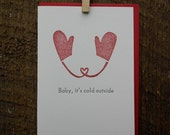 Baby, It's Cold Outside Letterpress Holiday Cards