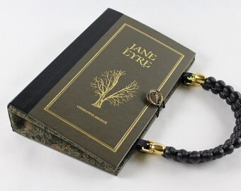Book Purse Jane Eyre - made from recycled vintage book
