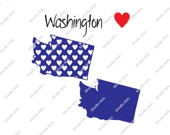 Washington, Olympia, Seattle, Mount Rainier, Seattle Seahawks, USA, Red, White, Blue, Vector, SVG, Silhouette, Commercial Use, Personal Use