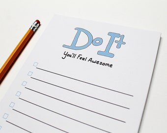 Funny To Do List Note Pad, Do It You'll Feel Awesome, To Do List Notepad, Funny To Do List, To Do List, Notepad