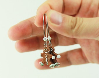Gingerbread Man Cookie Earrings - Christmas Specials