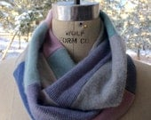Infinity Scarf Hand Made Up Cycled Cashmere Scarf EcoChic EcoLuxe