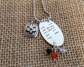 This is my costume - hand stamped necklace