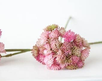 Fake Succulents - ONE Artificial Sedum Succulent Pick in Pink - Faux succulents - artificial succulents - ITEM 0137