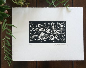 Apple Blossom Woodblock Print
