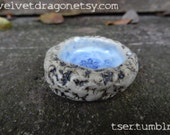 Winter Snowflake Festive Geode Crested Gecko Food Dish or Trinket Bowl
