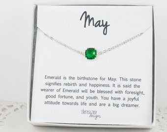 May Birthstone Silver Bracelet, Emerald Bangle Bracelet, May Emerald Bracelet, Silver Bracelet, May Birthstone Bracelet, Gifts Under 20