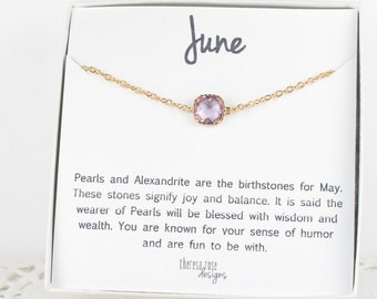 June Birthstone Gold Bracelet,  Light Amethyst Bracelet, June Birthday Bracelet, Gold Bracelet, June Birthday Bracelet, Gifts Under 20