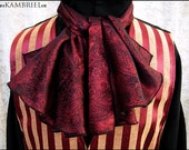 Red and Black Decadence Ascot by Kambriel - Unisex Design - Brand New & Ready to Ship!