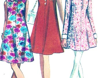 60s mod dress tent style retro Frock vintage sewing pattern Simplicity 7683 Bust 32 young junior size cut