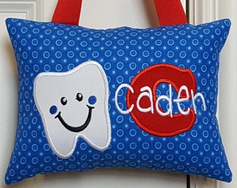 Tooth Fairy Pillow - Blue Circles