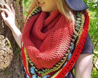 Rouge Sunday Shawl, lap blanket, scarf, wrap