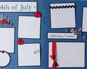 Premade 12x12 Scrapbook Pages -- THE 4TH OF JULY -- IndEpENDeNCe DaY, Summer, Family Reunion, Fun, Parade, Fireworks, Celebrate, Boy, Girl