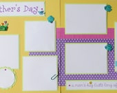 12x12 Premade Scrapbook Pages -- MOTHER'S DAY layout -- spring, best mommy, kid, boy, girl, love my mom, grandma, grandmother
