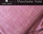 SALE Fabric, Manchester in VIOLET, Baby Girls Dress Fabric, Yarn Dyed, Woven fabric, Apparel fabric, Infinity Scarf fabric, Choose your cut