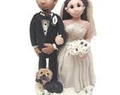 Hochzeitstorte Topper - lustige Kuchen Topper, Hochzeit Figuren, Hochzeit-Deckel, Hund Kuchendeckel, kundenspezifische Kuchen-Deckel, Krankenschwester Hochzeitstorte
