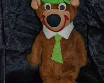 "Vintage 1973 Knickerbocker Yogi Bear Plush Doll 12"""