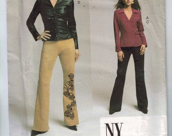 Misses Sewing Pattern Vogue 2679 Misses NYNY Collection Pants and Shirt Size 8 10 12 Bust 31 32 33 34 UNCUT