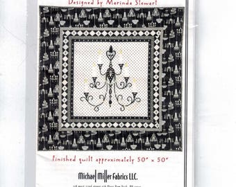 Craft Sewing Pattern Michael Miller Fabrics Fantasy Chandelier Quilt 50x50 Finished Size Marinda Stewart Quilting Pattern UNCUT