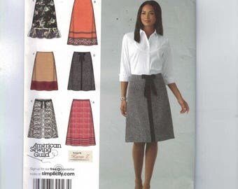 Misses Sewing Pattern Simplicity 4036 Misses A Line Knee Length Skirt Size 6 8 10 12 14 UNCUT
