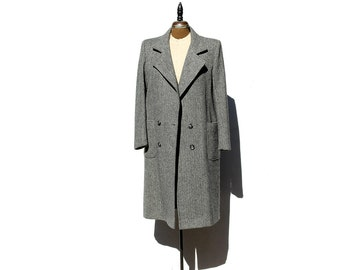 Gray Pure Wool double Breasted Coat